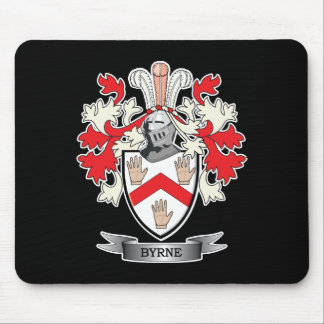 Escudo de armas de Byrne Tapetes De Ratones