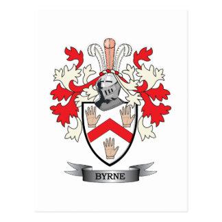 Escudo de armas de Byrne Tarjeta Postal