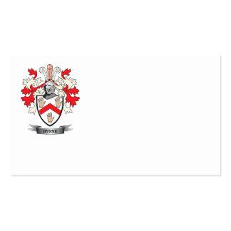 Escudo de armas de Byrne Tarjetas De Visita