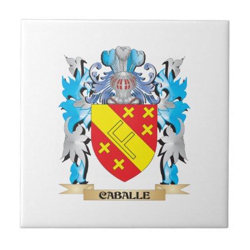 Escudo de armas de Caballe - escudo de la familia Azulejo Cerámica