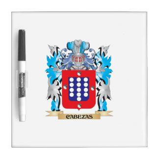 Escudo de armas de Cabezas - escudo de la familia Tablero Blanco