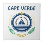 Escudo de armas de Cabo Verde Azulejo Cuadrado Pequeño