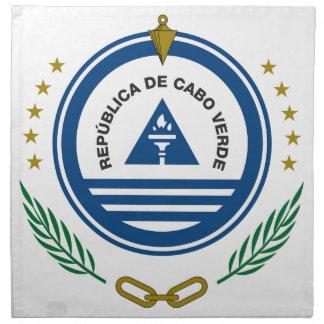 Escudo de armas de Cabo Verde Servilleta Imprimida