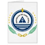 Escudo de armas de Cabo Verde Tarjeta