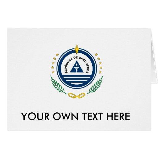 Escudo de armas de Cabo Verde Tarjetas