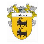 Escudo de armas de Cabrera/escudo de la familia Tarjeta Postal