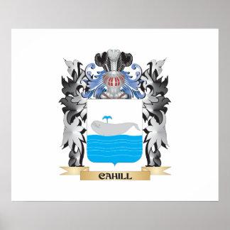 Escudo de armas de Cahill - escudo de la familia Póster