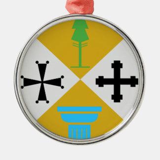 Escudo de armas de Calabria (Italia) Ornamento Para Arbol De Navidad