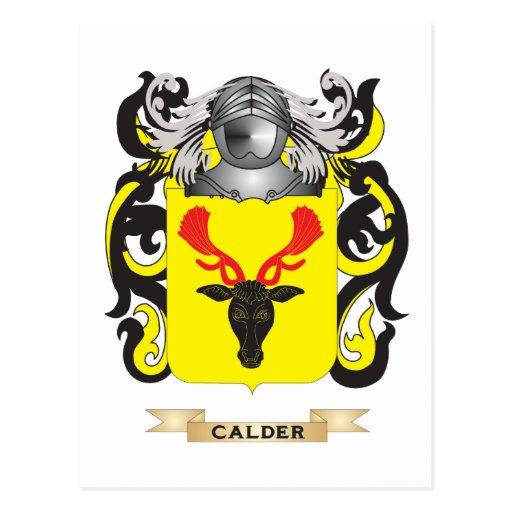 Escudo de armas de Calder (escudo de la familia) Postal