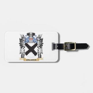Escudo de armas de Calhoun - escudo de la familia Etiqueta De Maleta