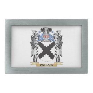 Escudo de armas de Calhoun - escudo de la familia Hebilla Cinturón Rectangular