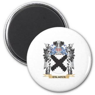 Escudo de armas de Calhoun - escudo de la familia Imán Redondo 5 Cm