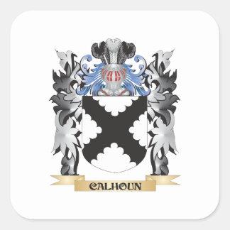 Escudo de armas de Calhoun - escudo de la familia Pegatina Cuadrada