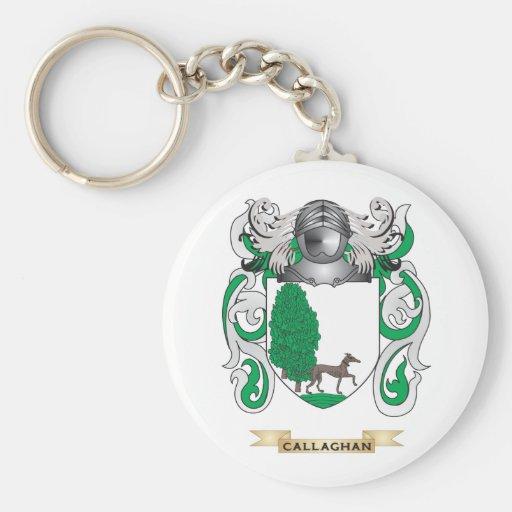 Escudo de armas de Callaghan (escudo de la Llavero Redondo Tipo Pin