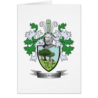 Escudo de armas de Callaghan Tarjeta De Felicitación