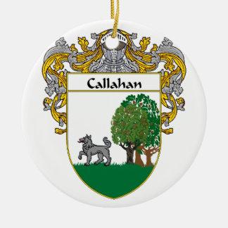 Escudo de armas de Callahan/escudo de la familia Adorno Redondo De Cerámica