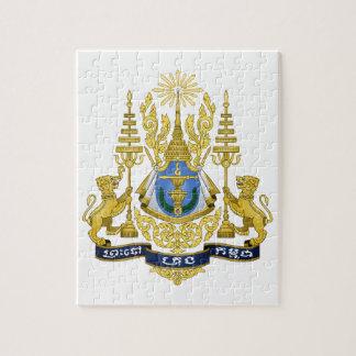 Escudo de armas de Camboya Puzzles