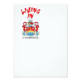 "Escudo de armas de Cambridge Invitación 5.5"" X 7.5"""