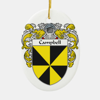 Escudo de armas de Campbell/escudo de la familia Adorno Ovalado De Cerámica
