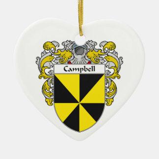 Escudo de armas de Campbell/escudo de la familia Adorno De Cerámica En Forma De Corazón