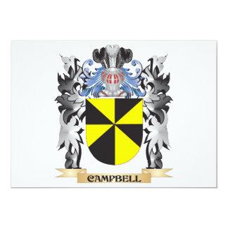 """Escudo de armas de Campbell - escudo de la familia Invitación 5"""" X 7"""""""
