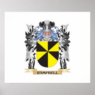 Escudo de armas de Campbell - escudo de la familia Póster