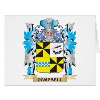 Escudo de armas de Campbell - escudo de la familia Tarjeta