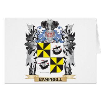 Escudo de armas de Campbell - escudo de la familia Tarjeta De Felicitación