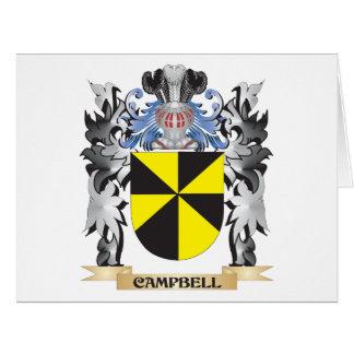 Escudo de armas de Campbell - escudo de la familia Tarjeta De Felicitación Grande