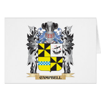 Escudo de armas de Campbell - escudo de la familia Tarjeta Pequeña