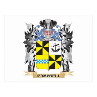 Escudo de armas de Campbell - escudo de la familia Tarjeta Postal