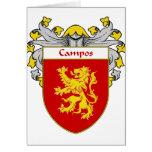 Escudo de armas de Campos/escudo de la familia (cu Tarjetón