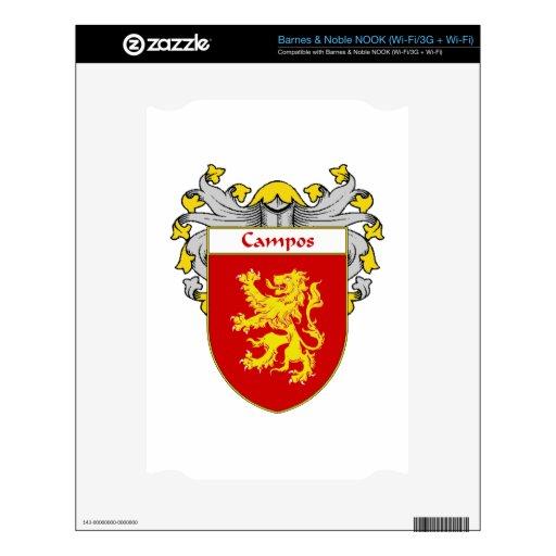 Escudo de armas de Campos/escudo de la familia NOOK Calcomanía