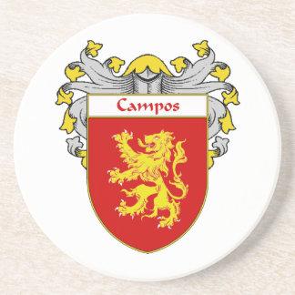 Escudo de armas de Campos/escudo de la familia Posavasos Cerveza
