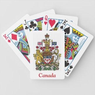 Escudo de armas de Canadá Baraja Cartas De Poker