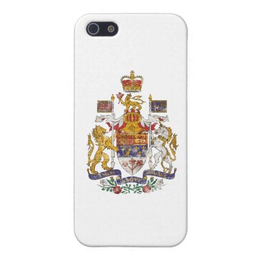 Escudo de armas de Canadá del vintage iPhone 5 Funda