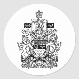 Escudo de armas de Canadá - escudo de Canadá Pegatina Redonda