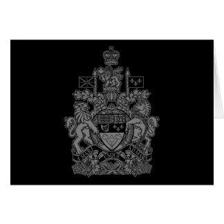 Escudo de armas de Canadá - escudo de Canadá Tarjetón