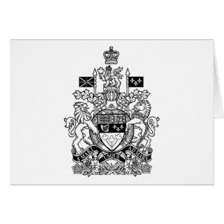 Escudo de armas de Canadá - escudo de Canadá Felicitación
