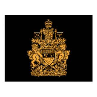 Escudo de armas de Canadá - escudo de Canadá Tarjetas Postales