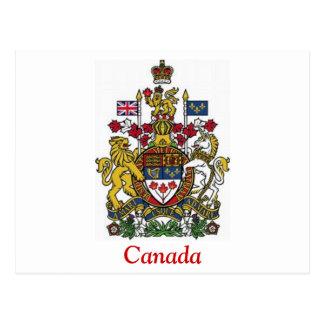 Escudo de armas de Canadá Tarjeta Postal