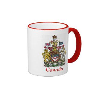 Escudo de armas de Canadá Taza A Dos Colores