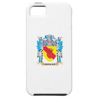 Escudo de armas de Canales - escudo de la familia iPhone 5 Carcasa