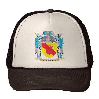 Escudo de armas de Canales - escudo de la familia Gorras De Camionero
