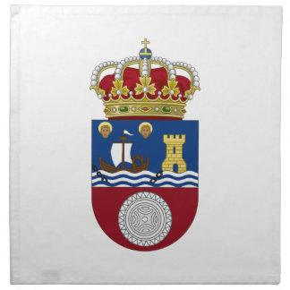 Escudo de armas de Cantabria (España) Servilleta