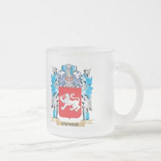 Escudo de armas de Caprino - escudo de la familia Taza Cristal Mate