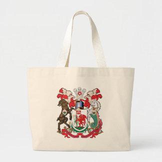 Escudo de armas de Cardiff Bolsa Tela Grande