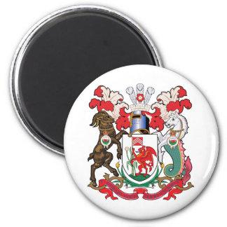 Escudo de armas de Cardiff Imán Redondo 5 Cm