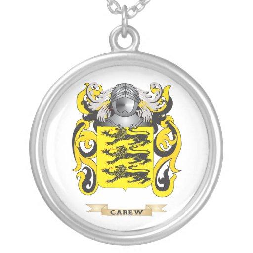 Escudo de armas de Carew (escudo de la familia) Colgante Redondo