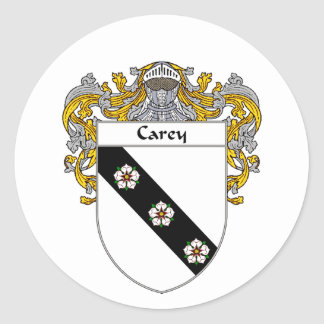 Escudo de armas de Carey (cubierto) Pegatina Redonda